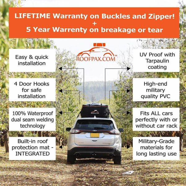 life time warranty on buckels and zipper