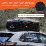 RoofPax Car Roof Bag & Rooftop Cargo Carrier – 19 Cubic Feet Heavy Duty Bag, 100% Waterproof Excellent Military Quality Roof-Top Car Bag – Fits All Cars With/Without Rack – 4 Door Hooks Included​