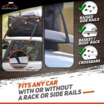 RoofPax Car Roof Bag & Rooftop Cargo Carrier – 15 Cubic Feet Heavy Duty Bag, 100% Waterproof Excellent Military Quality Rooftop Car Bag – Fits All Cars with/Without Rack – 6 Door Hooks Included