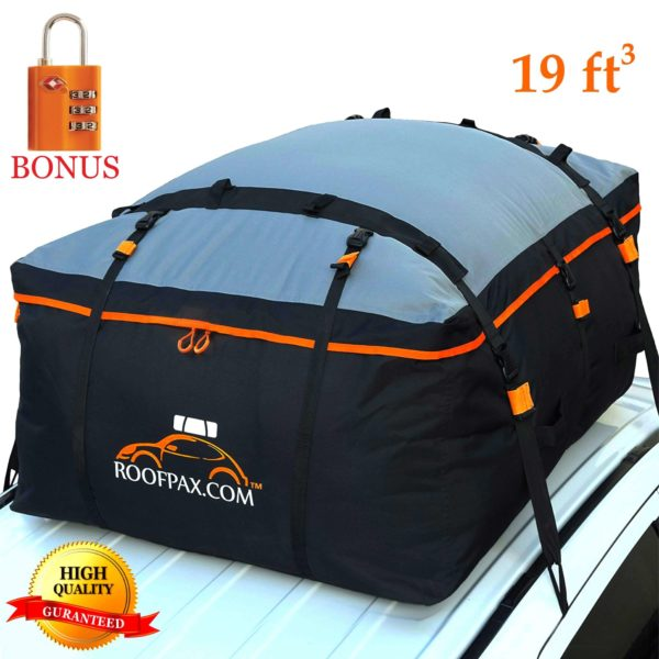 Car Roof Bag 19 cubic feet waterproof rooftop cargo carrier