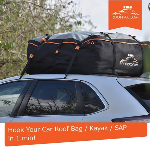 hook your car roof bag / kayak / SAP / in 1 min