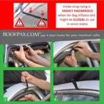 RoofPax – 6 Rooftop Cargo Tie Down Hooks for Strapping Down Any Car Top Cargo. NO More Straps Inside Your CAR, Sturdy, 100% Waterproof. Attaches to Car Door Frame. Patent Pending.!